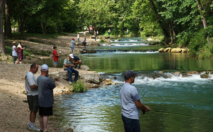 Area attractions the cavern inn for Roaring river fishing